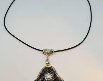Handmade Beautiful Hamsa Evil Eye Protection necklace