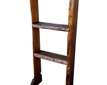 Handmade Massive Cherry Freeform Rustic Live Edge Reclaimed Wood Storage Bookshelf design by Darvo