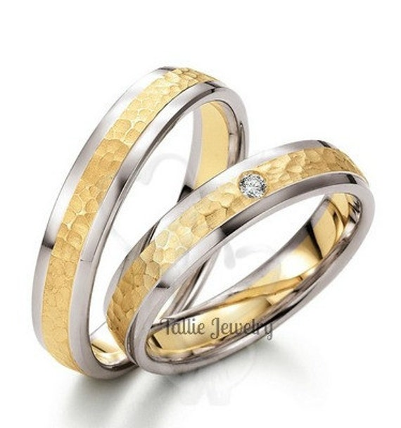 vintage womens her white wedding for set princess sets band in diamond carat ring bands gold