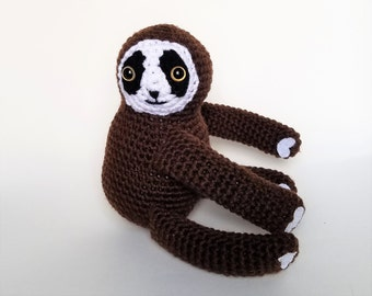 Free Amigurumi Sloth Pattern : Pattern sammy the sloth crochet sloth pattern amigurumi