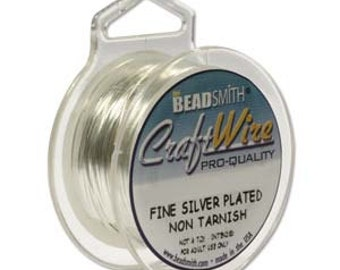 22 Gauge Silver Plated Wire, Non-Tarnish, 8 yard spool, Silver Round Wire, 24 foot spool, 22 Gauge Wire, Silver Wire, Wire Wrapping Wire
