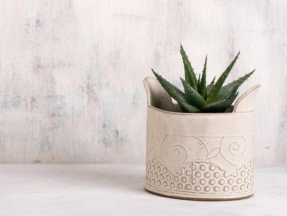 Keramik Blumentopf moderne Übertopf weiß Keramik Übertopf