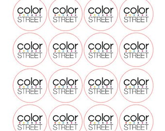 Color Street Round Stickers (24 Count)
