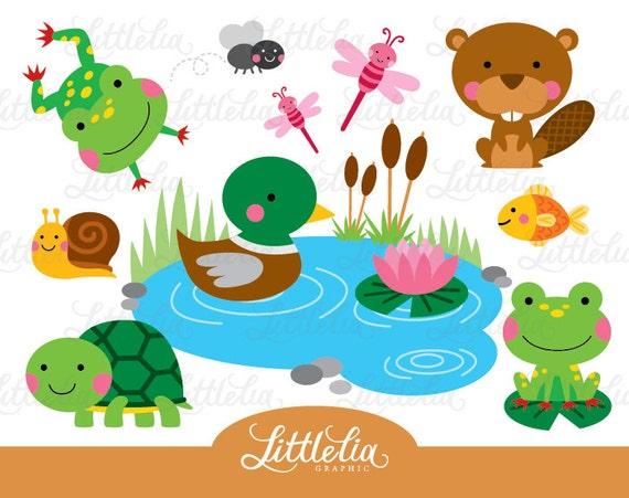 img etsystatic com il ca52bb 712049505 il 570xn 71 rh etsy com clip art ponds clipart pond animals