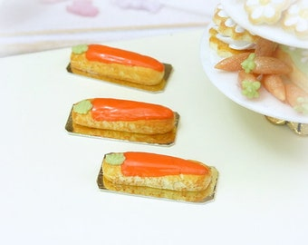 Carrot Eclair - 12th Scale Miniature Food