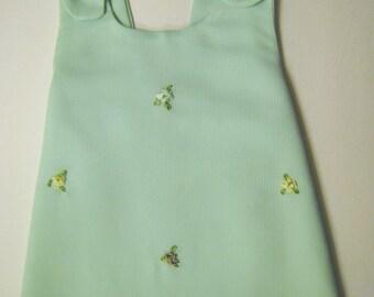 Baby Dress. Mint baby dress, embroidered dress, girls dress, toddler dress,children babys dresses