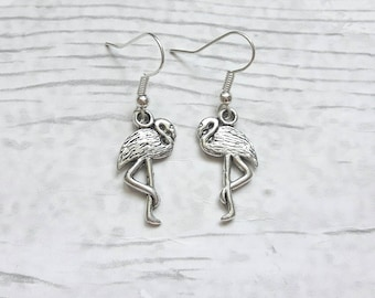 flamingo earrings, pink flamingo, flamingo jewellery, bird jewelry, bird earrings, tropical jewellery, gifts for her, summer jewelry