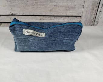 "Case recycled denim ""Blue"""