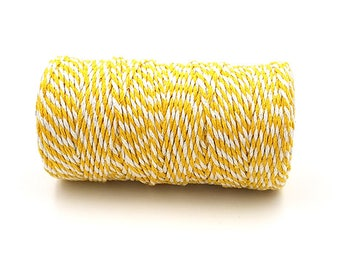 100 m spool Twine Baker's Twine Style yellow and white