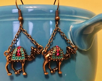 Moroccan Camel Earrings - Bohemian, Gypsy Style
