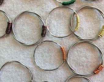 Guitar String Rings Sizes 4 to 10