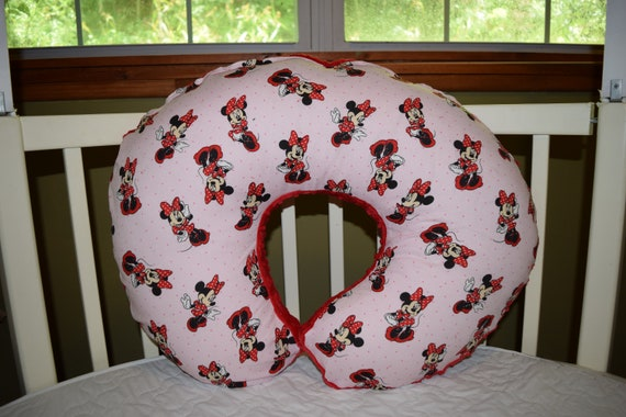Boppy Pillow Cover Mw Pink Minnie Mouse Cotton Red Dimple Beauteous Minnie Mouse Boppy Pillow Cover