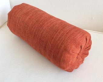 Tangerine  accent lumbar throw Bolster Pillow 6x14 6x16 6x18 6x20 6x22