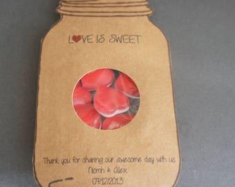Love is Sweet Wedding favours, 50 Love is sweet wedding favours