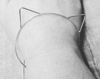 Cat Bracelet Sterling Silver