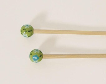 Handcrafted 4.5 bamboo knitting needles