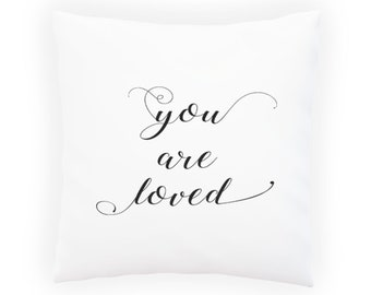 You Are Loved Pillow Cushion Cover s595p