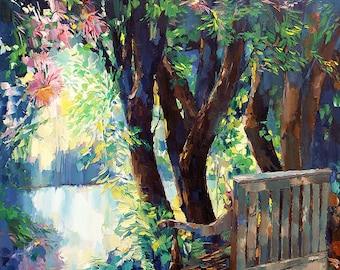 Spiritual Art | Digital Download | Tranquil Art | Meditation | Reflection | Landscape giclee print | Landscape Art