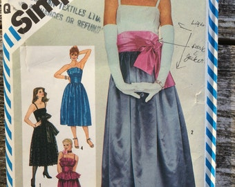 Simplicity evening gown pattern
