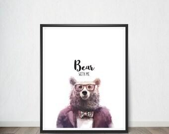 Bear Digital Print, Art Print, Digital Art, Digital Art Print, Digital Artworks, Digital Print Art, Digital Art Download