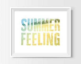 Beach Decor, Golden Beach Print, Summer Feeling Poster, Golden Beach Photography, Inspirational Quote, Surf Art, Surf Decor, Wall Art Prints