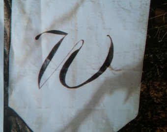 Monogrammed Letter Flag,  3' x 5'