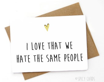 Funny Card for  co-worker, Best Friend Card, Sarcastic Card