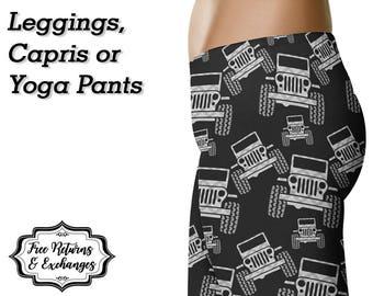 Plaid Off Road Leggings, Capris or Yoga Pants • Grey Plaid • Anarchy307 Anarchy 307