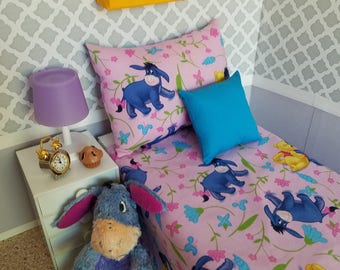 Thanks For Noticing Me! Cute Eeyore Bedding for 14 to 18-Inch Dolls!