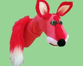 Couture Fox Sock Puppet