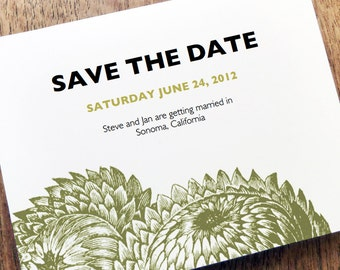 Printable Save the Date Card - Save the Date Template - Instant Download - Save the Date PDF - Thistle Save the Date - Vintage Botanical PDF