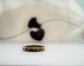Om Shanti Ring Brass *handmade with love* yoga jewellery