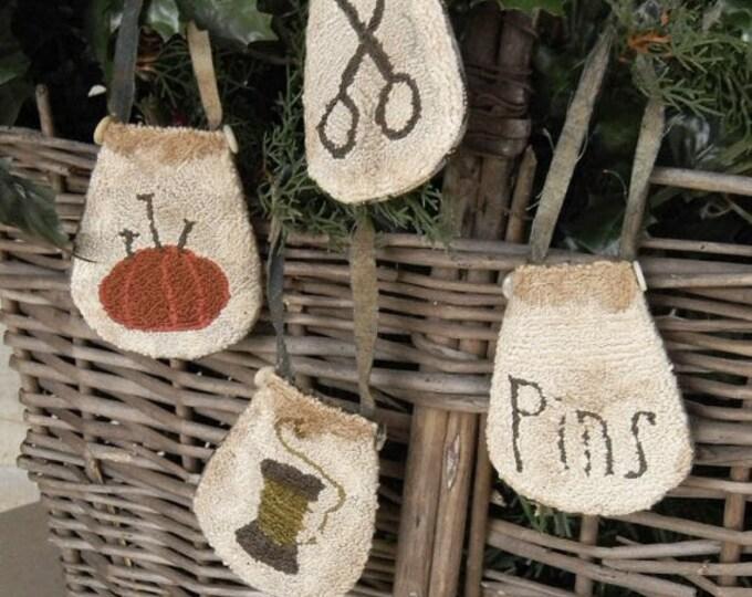 Pattern: Needleworker Pocket Ornaments Punch Needle created by Notforgotten Farm