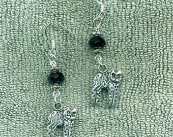 Aztec Cat New Earrings, Handmade