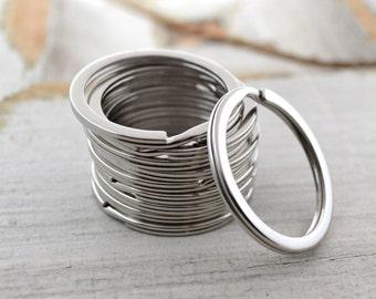 Stainless Steel Key Ring   Flat Split Ring for Keychains   32mm