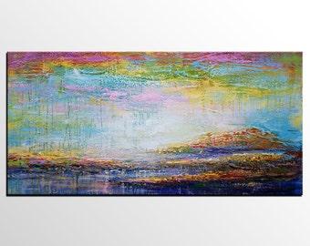 Large Art, Large Oil Painting, Livingroom Canvas Art, Oil Painting Abstract, Landscape Painting, Abstract Art, Canvas Wall Art, Modern Art