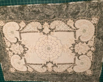 Quilted Cutwork/Embroidery Wall Hanging