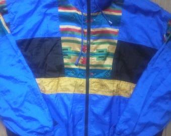 Artisana Fitnessline 90's Vintage Mens Tracksuit Top Jacket Nylon