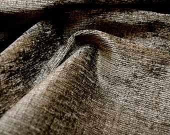 Dark Grey Chenille Upholstery Fabric