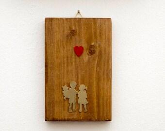 Couple in Love, Heart Balloon, Banksy Lovers