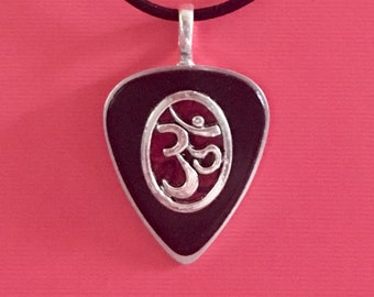 "Guitar Pick Necklace ""Hymns To The Silence"""