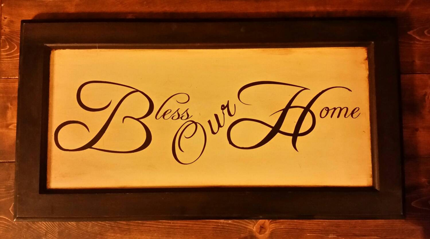 Wooden Bless Our Home Sign Bless Our Home Wall Hanging Bless