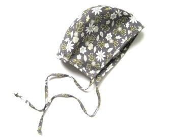 Baby Girl Bonnet, Floral Bonnet, Toddler Hat, Infant Bonnet, Pilot Hat, Toddler Bonnet, Hat with Ties, Toddler Clothes, Hat, Ready to Ship