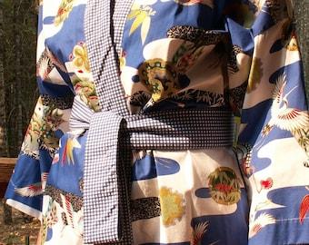 Haori Happi Coat Hip Length Kimono SAMURAI Clearance Birthday Mothers Day Fathers Day