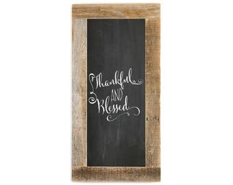 Barnwood Framed Chalkboard   24 x 12 Inch - Natural