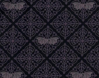 Fat Quarter Freak Out Gothic Bats Cotton Quilting Sewing Fabric