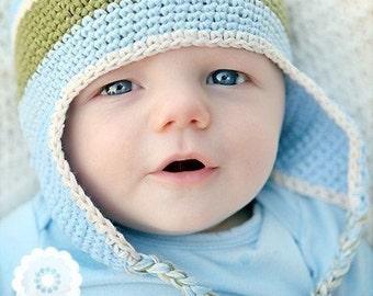 Baby Boy Hats Newborn Hats, Baby Hats Photo Prop, Infant Hats, Baby Crochet Hat, Baby Boy Crochet Hats, Baby Boy Earflap Hats, READY TO SHIP