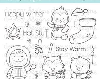 "Digital Stamp Art "" Happy Winter"""