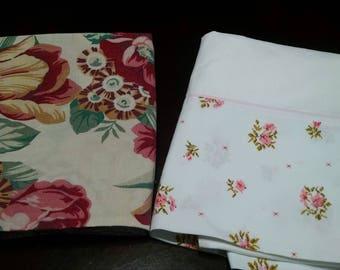 Vintage Pillowcases / Vintage Bedding / Retro Pillowcases / Mismatched  Pillowcases / Floral Pillowcases / Pink floral Pillowcases / #8