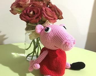 Peppa Pig - handmade crochet READY TO SHIP